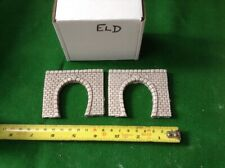 2x single tunnel  -n scale gauge-  - continental Style-  Colour Grey