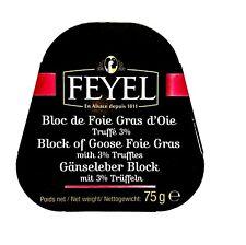 Gänseleber und Trüffel Foie Gras Oie echte Trüffel getrüffelt Feyel 75g Dose