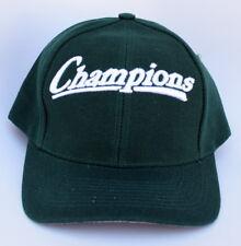 Champions One Size Fits All Snapback Green Baseball Cap Hat 36098cb32a39