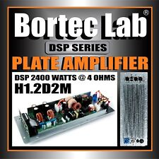 Bortec Lab 2400 watt Mono Plate Subwoofer Amplifier with 2 IN 2 OUT DSP