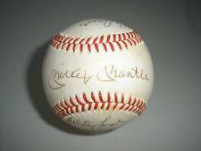 MICKEY MANTLE SIGNED BASEBALL WHITEY FORD CATFISH HUNTER AUTOGRAPH + JSA LOA