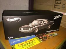 HOT WHEELS ELITE 1 18 DODGE CHARGER FAST AND FURIOUS NEW SEALED FREE SHIP. WORLD