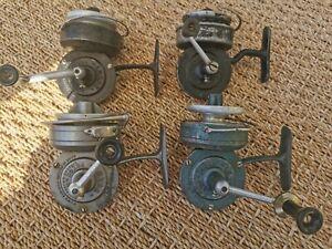 Lot pêche moulinets luxor anciens x 4 pezon et michel