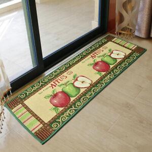 Jacquard Apple Door Mat Indoor Outdoor Non-Slip Floor Mat Kitchen Bedroom Mat