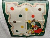 Children's  Tom Lamb  Duck With Three Ducklings In  Basket  Green Handkerchief