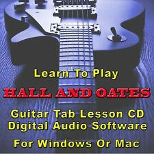 HALL AND OATES Guitar Tab Lesson CD Software - 6 Songs