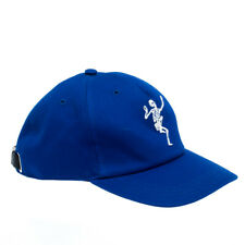 Alexander McQueen Blue Cotton Dancing Skeleton Baseball Cap S