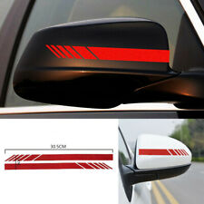 2pcs Car Accessories Rearview Mirror Carbon Fiber 5D Vinyl Stripe Decal Sticker