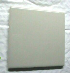 "Wenczel 1970s Mid Gray Gloss 4-1/4"" Square Porcelain Ceramic 1 Wall Tile Vintage"