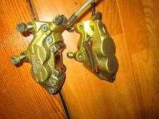 DUCATI  GOLD BREMBO FRONT BRAKE CALIPERS & STEEL LINES  SS MONSTER 748-998