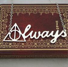 Hot Fashion  Harry potter deathly hallows pendant triangle With letter necklace