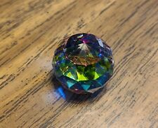 Swarovski Crystal Small Multi Color Multifaceted Vitrail Prism Ball Paperweight