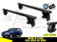 IRON130+BS08 BARRE PORTATUTTO FARAD IN FERRO BMW X 3 E83 DAL 2004 AL 2010