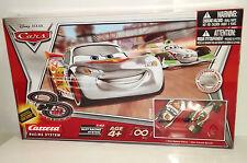 DISNEY PIXAR CARS 2 CARRERA SILVER RACER RACING SYSTEM MCQUEEN & FRANCESCO RARE