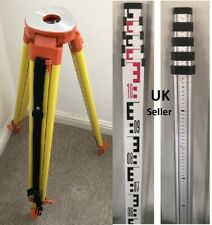 ALUMINIUM TRIPOD & 5m LEVELLING STAFF FOR LASER LEVEL /DUMPY construction sites