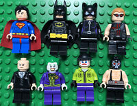 Lego DC Superheroes Superman Batman Joker Minifigure Lot of 8 Minifigs Villains