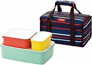 Thermos Family fresh lunch box 3.9L Navy DJF-4003 NVY 26.5 x 18.5 x 13cm