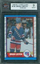 Brian Leetch RC Rookie Card NY Rangers 1989-90 OPC 89' NHL Card #136 KSA 9 MINT