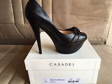 Hot Casadei Black Heels Platform  Shoes. Italy. Worn Once Indoors, 7.5 B