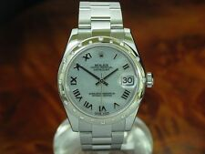 Rolex Datejust Medium acero inoxidable Automatic fantastico diamante lünette/ref 178344
