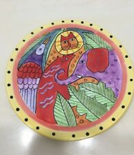 Laurel Burch Wild Animal Decorative Plate 8""