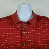 Bobby Jones Collection Red Yellow Geometric Mens Adult Polo Shirt Size Large L