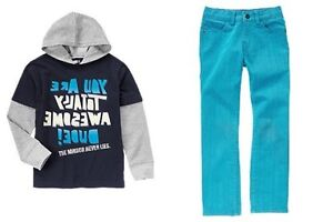 Crazy 8 Zany Guy Blue Colored Rocker Jeans Awesome Hoodie Tee Boys 5 6 NEW NWT