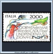 1986 Italia Repubblica Martiri Indipendenza n. 1767 **