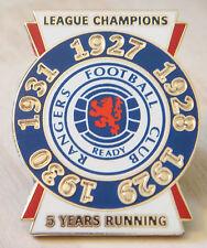 Rangers Raro victoria Pines 5 in (approx. 12.70 cm) una fila 1927-31 campeones de liga Insignia Danbury Mint