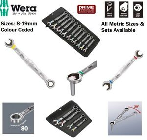 Wera JOKER Metric Combination Ratchet Open End Ring Spanner All Sizes & Sets