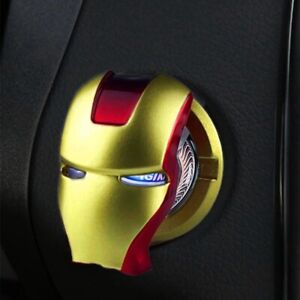 Iron Man Engine Ignition Button Cover Start Stop Push Button Switch Car Interior