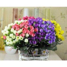 36 Head Rose Flowers Silk Artificial Bouquet Wedding Party Home Decor Craft