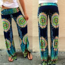 Pantalones bohemios Casual Wide Leg Yoga Lose Pants Palazzo Trousers