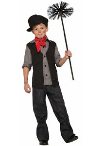 Child Kids Boys Chimney Sweep Mary Poppins Costume Size S M XL (with defect)