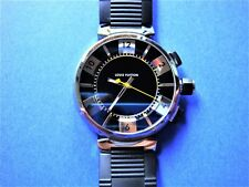 AUTHENTIC DIGITAL LOUIS VUITTON TAMBOUR BLACK Q118F WATCH RARELY WORN VERY CLEAN