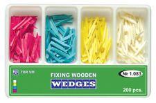 Dental Fixing Wooden Wedges For Dental Restoration 200 Pcs