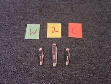 3 OLD TIMER POCKET KNIVES KNIFE CUT CAMP FOLD TRAVEL CAMPING SURVIVAL HAND USED
