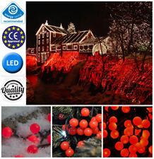 Décorations lumineuses de Noël rouges extérieures pour la maison