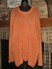 ESKANDAR BURNT ORANGE LIGHTWEIGHT LINEN COTTON SWEATER O/S