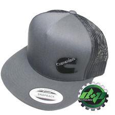 Dodge Cummins charcoal trucker black mesh snap back hat cap flat bill snapback