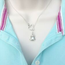 I Enjoy Frog Silver Lariat Style Y Necklace.