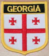 Georgia Shield Country Flag Embroidered PATCH Badge P1