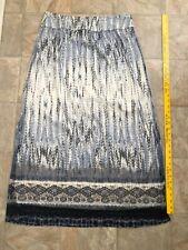 Chicos Black White Printed Maxi Long Skirt Sz 1.5 (Sz 10)