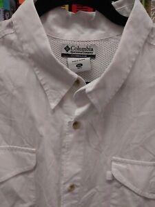 Columbia Sportswear PFG White XXL Mens Short Sleeve Shirt