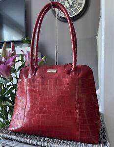 Lovely Osprey - Red croc print Genuine leather tote Bag, Over Shoulder Bag