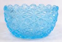 Antique Daisy & Button Bowl Blue Glass Waste EAPG Unusual A Beauty