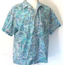 Vintage Men's XL Rai Nani Reverse Print Hawaiian Aloha Shirt Made In Hawaii