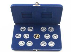 1992 Canada Confederation 125th Anniv. 13 Coin Silver PF Set Display Box *380