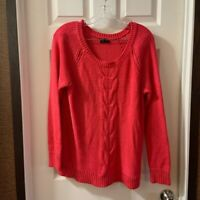 Apt.9 Women's Hot Pink Scoop Neck Long Sleeve Sweater size XL