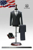 "POPTOYS 1/6 Standard Men Business Suit DARK GRAY Classic X28C For 12"" Figure"